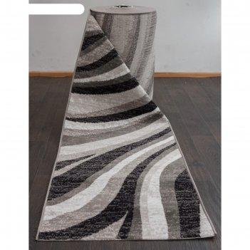 Ковровая дорожка silver d234, 120x3000 см, цвет gray