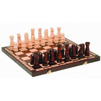 Шахматы большой замок малые (польша, дерево, 50х25х7 см)