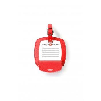 Бирка для багажа swissgear, красная, пвх, 10,5 x 0,4 x 10,5 см