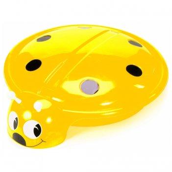 С 203 песочница- бассейн божья коровка с крышкой цв.жёлтый, диаметр 92 см