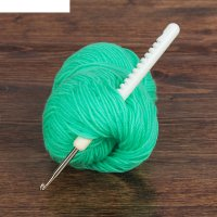 Крючок для вязания, с пластиковой ручкой, №4,5, 15см
