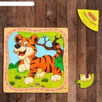 Пазл в рамке тигр