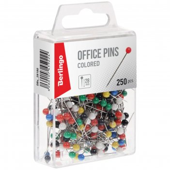 Кнопки силовые berlingo 28 мм, 250 штук, пластиковая коробка, европодвес