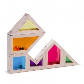 Деревянная игрушка радужные блоки цвет и звук, со звуковым эффектом