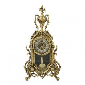 """Часы с маятником  """"библо"""" каминные бронзовые"""