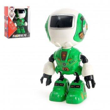 Робот «вольт», световые и звуковые эффекты, работает от батареек, цвета ми