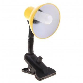 Лампа настольная е27, светорегулятор на зажиме (220в) желтая (108а)