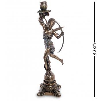Ws-978 статуэтка-подсвечник диана - богиня охоты, женственности и плодород