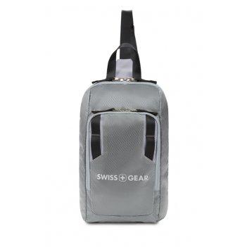 Рюкзак swissgear с одним плечевым ремнем, темно-серый/серый, полиэстер рип