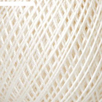 Нитки вязальные нарцисс 395м/100гр  100% мерсеризованный хлопок цвет 0102
