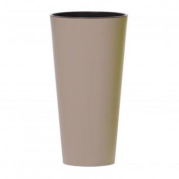 Кашпо для цветов tubus slim мокко 2 предмета 15 и 27л