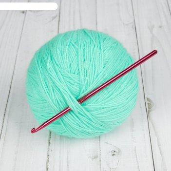 Крючок для вязания, d = 4,5 мм, 15 см, цвет микс