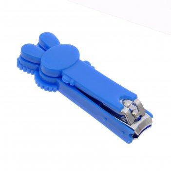 Кусачки-книпсер для ногтей детские маникюрные «зайка», от 0 мес., цвет гол