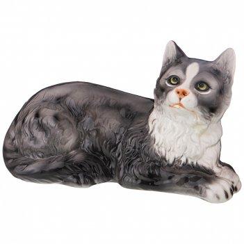 Декоративное изделие серый кот 33*17*19 см