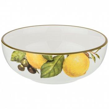 Салатник лемон три 16,5*16,5 см. высота=6 см. / 800 мл.