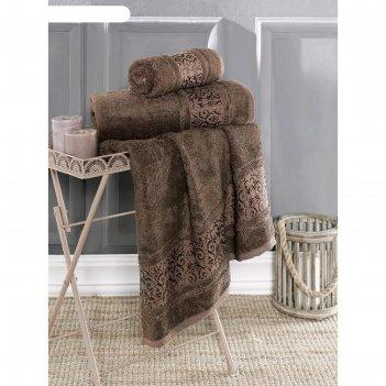 Полотенце armond 50х90 см, цвет коричневый