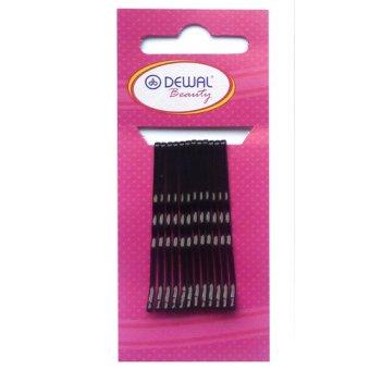 Невидимки dewal beauty черные 50 мм (12 шт) волна