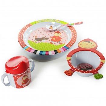 Набор посуды красная шапочка, 4 предмета