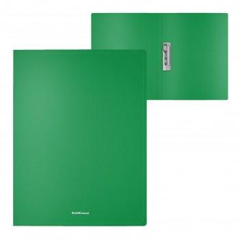Папка с зажимом а4 erichkrause classic зеленая 47180