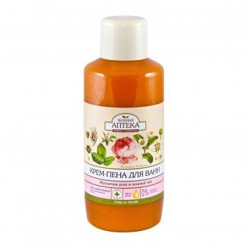Крем-пена для ванн зелёная аптека «мускатная роза и зелёный чай», 1000 мл