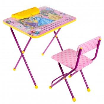 Набор детской мебели дисней. принцесса 2 складной: стол, мягкий моющийся с