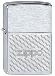 Зажигалка zippo stripes brushed chrome