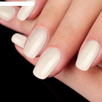 Накладные ногти на клеевой основе однотонные, глянцевые, цвет белый