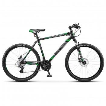 Велосипед 26 stels navigator-500 md, v020, цвет чёрный/зелёный, размер 18