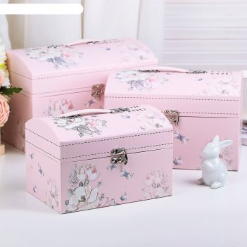 Набор коробок 3 в 1, 30 х 20 х 19,5 - 22 х 15 х 15 см