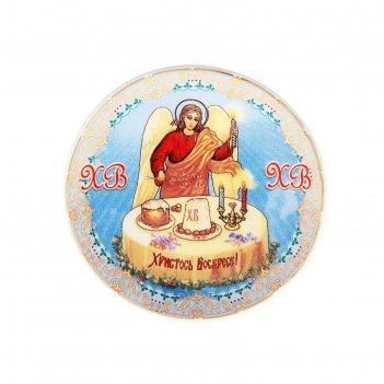 Декоративная тарелка ангел, d=10 см