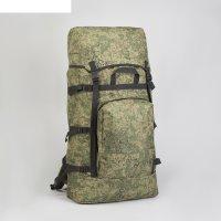Рюкзак туристический, 65 л, отдел на шнурке, 2 наружных кармана, цвет зелё