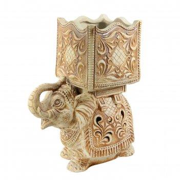 Кашпо-светильник слон 45л шамот