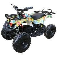 Детский электро квадроцикл motax atv х-16 800w, бомбер