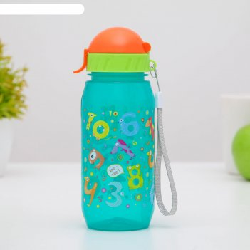 Бутылочка для воды и других пищевых напитков 400 мл «цифры»