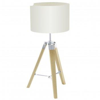 Настольная лампа lantada 1x60вт e27 светлый 28,5x28,5x68см