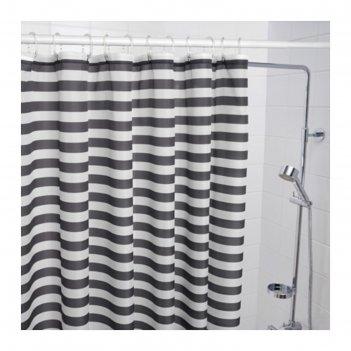 Штора для ванной, серый вадшён