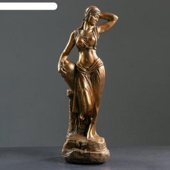 Фигура гречанка бронза 17х22х56см