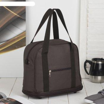 7886 п-600 сумка хозяйственная трансформер, 32*27/38*15, коричневый, 1 отд