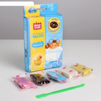 Мыло пластилин своими руками шоколадный пончик, 5 цв по 15 г пм575-3