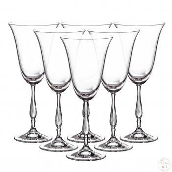Набор фужеров для вина crystalite bohemia fregata/antik 350 мл (6 шт)