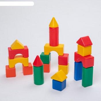 Строительный набор, 21 элемент, 6 х 6 см