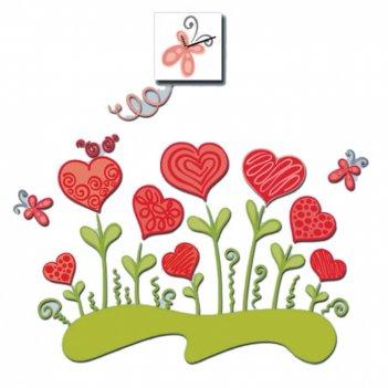 Часы настенные с декоративной наклейкой валентинов день 15х15х