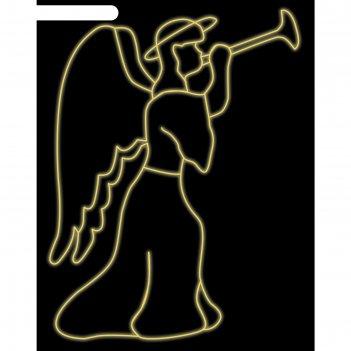 Светодиодное панно ангел, 2.5 х 1.89 м, led-шнур 24 м, 60 вт, металлически