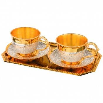 Кофейный набор на 2 персоны 5пр. в подарочной упаковке 150мм (кор=20наб.)