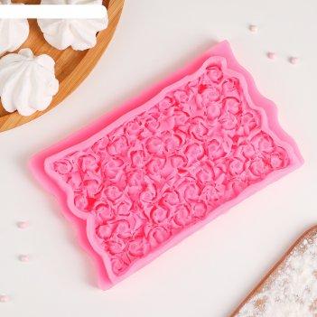 Молд «ковер из роз», 17,5x10,7x2,3 см