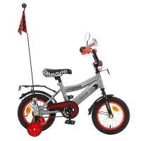 Велосипед двухколесный 12 graffiti premium racer, цвет: серый