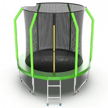 Батут с внутренней сеткой и лестницей evo jump cosmo internal, диаметр 10f