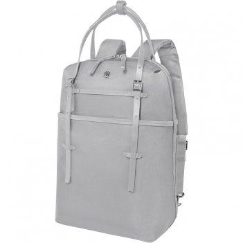 Сумка-рюкзак victorinox victoria harmony 15,6  , серебристая, нейлон/кожа/