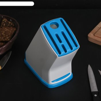 Подставка под ножи 14x13x26,5 см эргономика, цвет микс