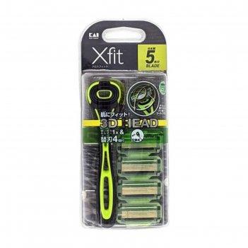 Мужской бритвенный станок, xfit, с плавающей 3d головкой и пятью лезвиями,